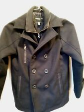 London Fog boys pea coat size M 10/12 navy blue - very gently used