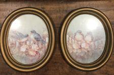 Vintage Homco Gold Framed Bluebird Pictures