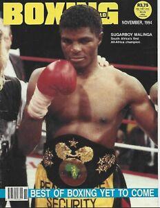 NOVEMBER 1994 BOXING WORLD MAGAZINE SUGAR BOY THULANI MALINGA SOUTH AFRICAN