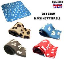 More details for 4 colours animal pet blanket fleece small soft puppy dog cat kitten mat throw