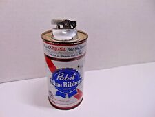 Vintage Pabst Blue Ribbon Beer Metal Can Lighter