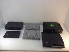 AS-IS Lot Game Console PS 3 Slim, 2 PS1, 2 PS2, 1 XBOX 1