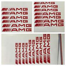 8 pc set Red AMG Brake Caliper Vinyl Sticker Decals Logo Overlay Mercedes Benz