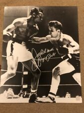 Jake Lamotta signed VS Ray Robinson Boxing 16x20  Raging Bull Vertical SSG Holo