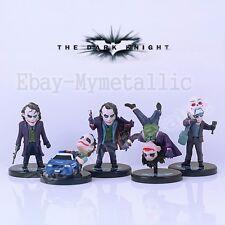 5pcs Set Batman The Dark Knight Joker 3cm-6cm PVC Mini Figure NO Box