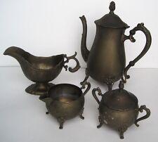 Godinger Silver Silverplate Tea Coffee Pot Teapot Creamer Sugar Gravy Sauce Boat
