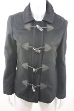Gap Wool Jacket Coat Toggle Duffle Pea Coat Peacoat Black Women Size Small S