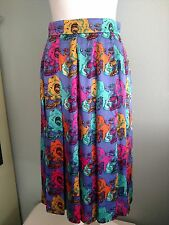 Carlisle Skirt Bright Floral Vintage Silk Size 6 Beautiful