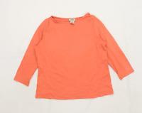 LL Bean Womens Size XS Cotton Peach T-Shirt (Regular)