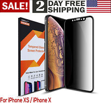 For iPhone Apple XS Privacy Anti Spy Tempered Glass Screen Protector 3D HD Clear