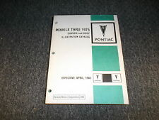 1967 Pontiac Firebird Chassis Body Illustrations Parts Catalog Manual Book