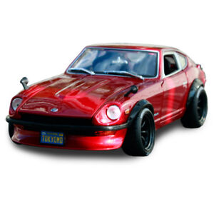 Maisto Design 1:18 1971 Datsun 240Z Red Diecast Model Sports Racing Car Boxed