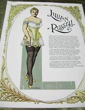Vtg Paper Dolls Original 1986 Lillian Russell Movie Star Tierney Fine Art Ltd.