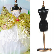 Display Gown Dress Clothes Rack For Barbie Doll Mannequin Model Holder Stand