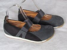Footprints By Birkenstock Ladies Navy Blue Nubuck Suede Mary Jane Size 3.5 EU 36