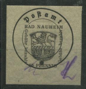 Lokal Bad Nauheim 4 II x mit Plattenfehler III postfrisch (B11996a)