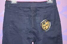 Louis Vuitton Skinny Jean 'Treggings' Studs Monogram Plaid Shield Patch Pant 40!