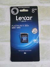 LEXAR BY MICRON PLATINUM II - 300X 45MB/s - 8GB SDHC UHS-I - MEMORY CARD