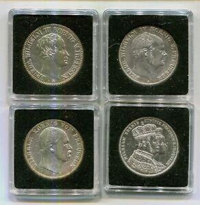 Preußen Taler 1825 , Vereinstaler 1860 u. 1867 und Krönungstaler 1861 4 Münzen