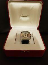 Cartier Santos 100 XL With Genuine Blue Cartier Strap