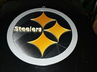 """3D PRINTED NFL Pittsburgh Steelers 3D Graphics Logo Wall Sign Plague 11"""" Dia"""