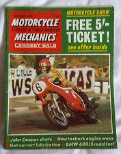 Motorcycle Mechanics MCM : December 70 : BMW 600/5 : OSSA 250 :Royal Enfield 250