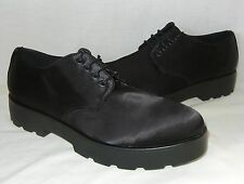 Vagabond Women's Aurora Black Satin Platform Oxford Shoes Retail $110 size 7