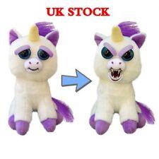 Feisty Pets Unicorn Soft Plush Stuffed Scary Face With Attitude Toy Xmas Gift UK