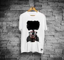 T-Shirt uomo manica corta in cotone trattore ARANCIO cartoon modello Fiatagri