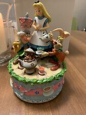 Disney Alice in Wonderland Music Box w/ Motion Birthday Cake Tea Party In Box