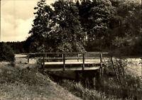 Brücken Motiv-AK Bridge Brücke in MENZ (Kr. Gransee) DDR Postkarte gelaufen 1972