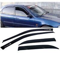 For 92-95 Honda Civic Sedan Window Visor Smoke Wind Rain Guard Deflector Shade