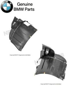 For BMW E39 97-00 Fender Liner SET Front lower GENUINE Air Duct L+R