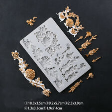 Flower Leave Fondant Silicone Mould Sugarcraft Chocolate Topper Cake Relief Mold