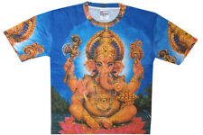 Men T Shirt  Cotton Polyester Ganesha Hindu God Print Meditation Tee XL Online