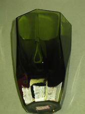 1950's Gunnar Ander ~ Lindshammar Swedish Cased Glass Green Vase w Tag
