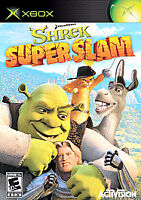 Shrek SuperSlam (Microsoft Xbox, 2005) Video Game w/ Booklet
