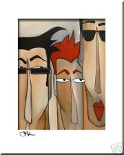 THE CREW - CONTEMPORARY POP ART Abstract MODERN print FIDOSTUDIO