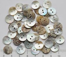 50 x little 11.5 mm Mother of Pearl buttons    Ivory / Neutral mix  11.5 mm   3