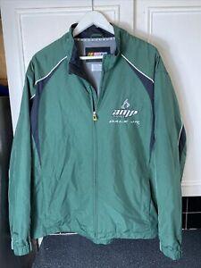 Nascar Dale Jr #88 Amp Energy Men's Size XL Windbreaker / Rain Jacket Green