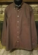 Burberry London Mens  Brown Check Long Sleeve Button Up Shirt Size XXL Cotton