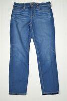 American Eagle 10 Hi Rise Jegging Crop Medium Wash Super Stretch Denim Jeans