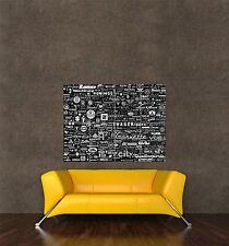Poster Print Pintura Collage Mundo coche insignia Insignias Garage signo seb015