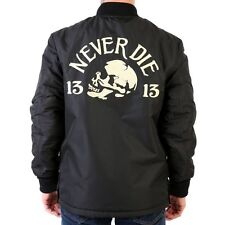 Lucky 13 Jacket REVERSIBLE Limited Driving Death Chain Stitch Chenille XL