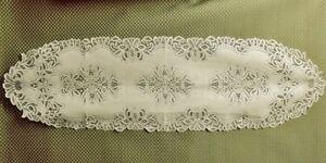 "Ivory 15.5"" x 59"" Lace Table Runner Artistry Diningroom Livingroom Bedroom Den"