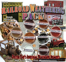 8-COLOR Railroad Industrial Weathering Pigment /Paint Set  Doctor Ben's On3/On30
