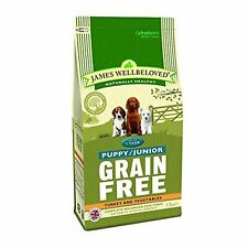 James Wellbeloved Turkey Vegetable Grain Free Dry Dog Puppy Junior Food 1.5kg
