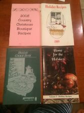 Lot Of 4 Holiday Christmas Cookbook recipes Cook Book Paperback Vintage