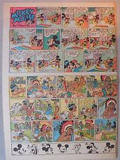 Mickey Mouse Sunday Page by Walt Disney from 5/4/1941 Tabloid Page Size