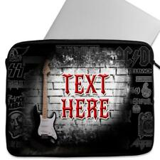Personalised Laptop Cover GUITAR Sleeve Rock Universal Case Gift SH122